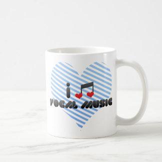 I Love Vocal Music Coffee Mug