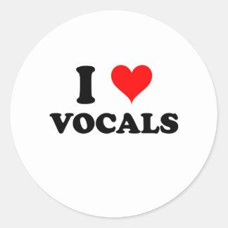 I Love Vocals Stickers