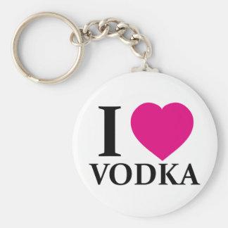 I Love Vodka Basic Round Button Key Ring