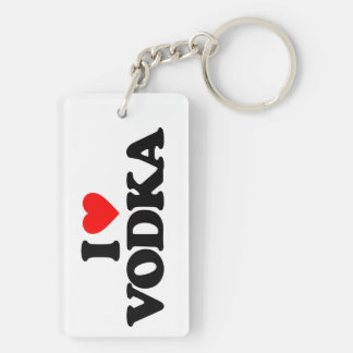 I LOVE VODKA Double-Sided RECTANGULAR ACRYLIC KEY RING