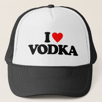 I LOVE VODKA TRUCKER HAT