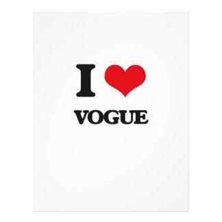 "I love Vogue 8.5"" X 11"" Flyer"
