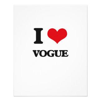 "I love Vogue 4.5"" X 5.6"" Flyer"