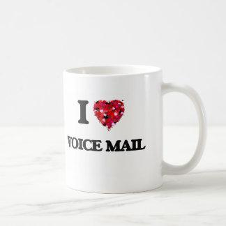 I love Voice Mail Basic White Mug