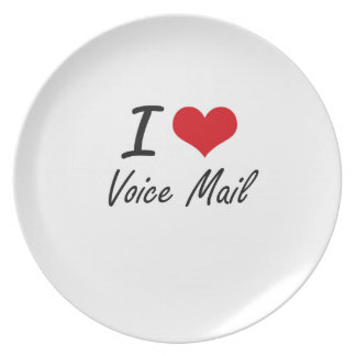 I love Voice Mail Plate