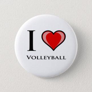 I Love Volleyball 6 Cm Round Badge