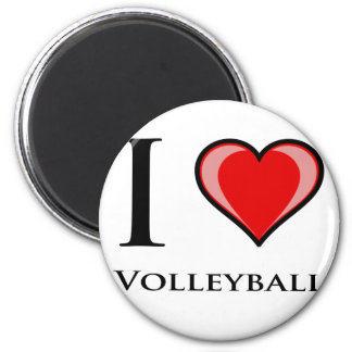 I Love Volleyball 6 Cm Round Magnet