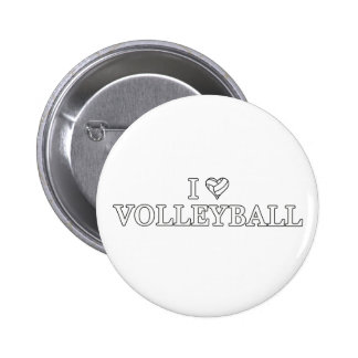 I Love Volleyball Button