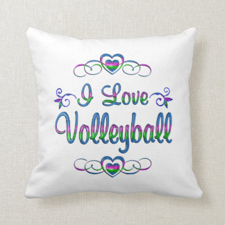 I Love Volleyball Cushion