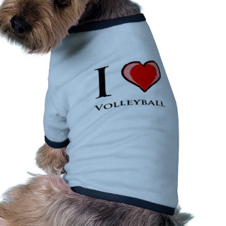 I Love Volleyball Dog Tshirt
