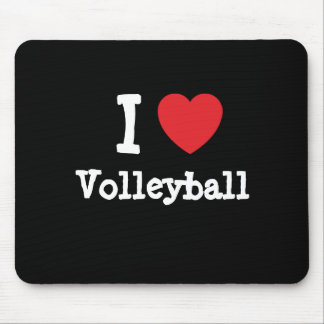 I love Volleyball heart custom personalized Mouse Mat