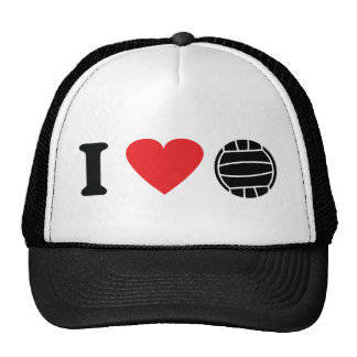 I love volleyball icon hats
