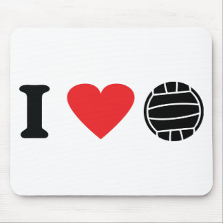 I love volleyball icon mouse mat