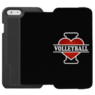 I Love Volleyball Incipio Watson™ iPhone 6 Wallet Case