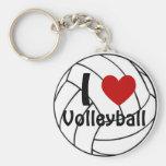 I Love Volleyball Keychain