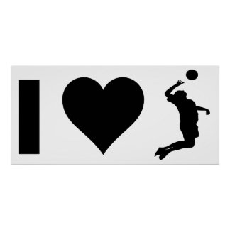 I Love Volleyball (Male) Poster