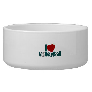 I Love Volleyball Pet Water Bowl