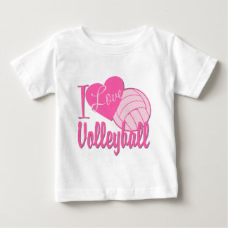 I Love Volleyball Pink T-shirt