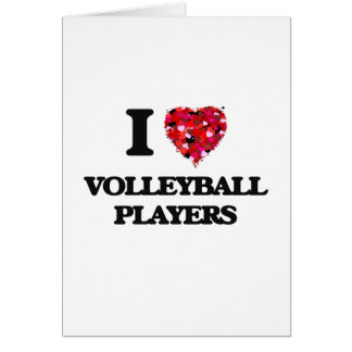 I love Volleyball Players Greeting Card