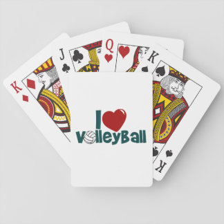 I Love Volleyball Poker Deck