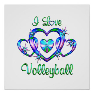 I Love Volleyball Print
