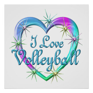 I Love Volleyball Posters