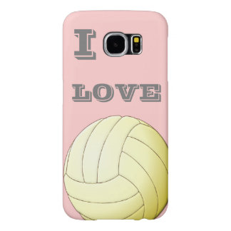 I LOVE VOLLEYBALL Samsung Galaxy S6 Case Samsung Galaxy S6 Cases