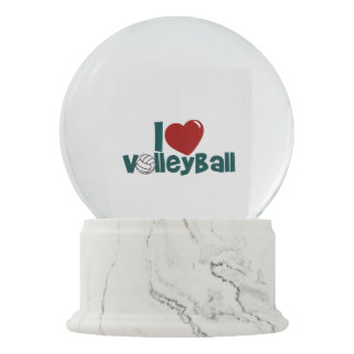 I Love Volleyball Snow Globes