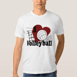 I Love Volleyball T Shirt