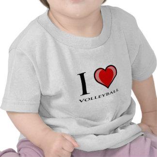 I Love Volleyball Tshirts