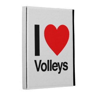 i love volleys iPad folio case
