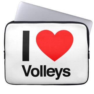 i love volleys laptop sleeves