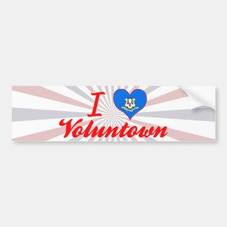 I Love Voluntown, Connecticut Bumper Stickers