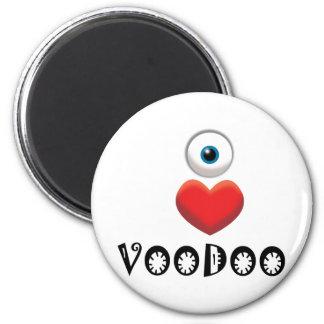 I LOVE VOODOO 6 CM ROUND MAGNET