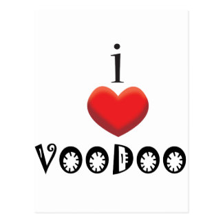 I LOVE VOODOO POST CARD