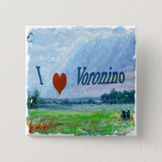 I Love Voronino (a village in Russia) Button Badge