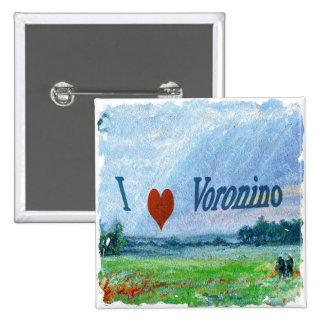 I Love Voronino (a village in Russia) Button Badge