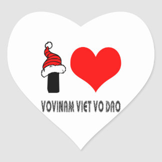I Love Vovinam Viet vo Dao Design Stickers