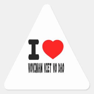 I Love Vovinam Viet vo Dao Triangle Sticker