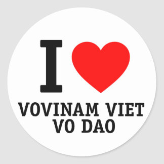 I Love Vovinam Viet Vo Dao Round Sticker