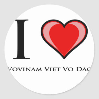 I Love Vovinam Viet Vo Dao Sticker