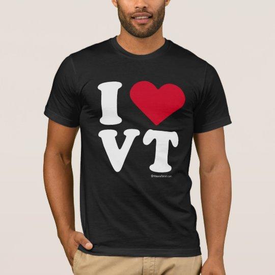 """""""I LOVE VT"""" """"I LOVE VERMONT"""" T-Shirt"""
