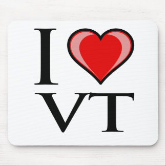 I Love VT - Vermont Mouse Pad