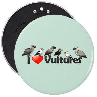 I Love Vultures (Africa) 6 Cm Round Badge