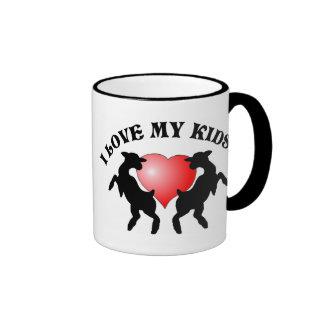 I Love w/Heart My Kids! Mug