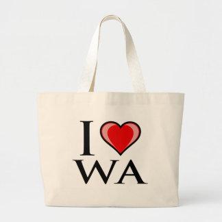 I Love WA - Washington Tote Bags
