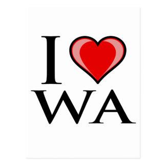 I Love WA - Washington Postcard