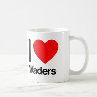i love waders mug