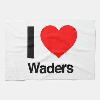 i love waders hand towels