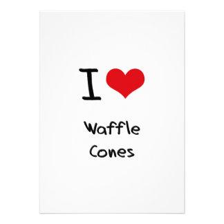 I love Waffle Cones Invites